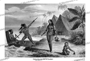 Natives of Oualan (Kosrae), Lange, 1839 | Photos and Images | Travel