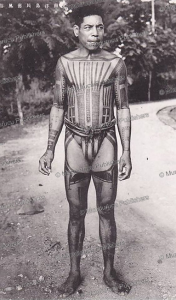 A man of Feis Island with traditional tattoo, Yap, 1951 | Photos and Images | Travel