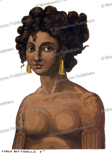 ludee, the wife of king thulle, pelew (palau) islands, carlo bottigelli, 1822