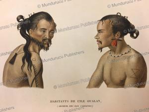 Men of Kosrae, Jules Louis Lejeune, 1823 | Photos and Images | Travel
