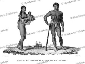 Tamor of Tinian and his wife, Mariana Islands, Jacques Arago, 1821 | Photos and Images | Travel