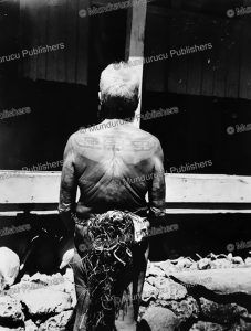 Man of Yap with traditional back tattoo, 1954 | Photos and Images | Travel