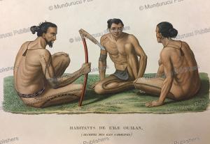 Men of Oualan (Kosrae), Jules Louis Lejeune, 1823 | Photos and Images | Travel