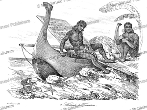Natives of Tamatam (Kosrae), Louis Auguste de Sainson, 1839 | Photos and Images | Travel