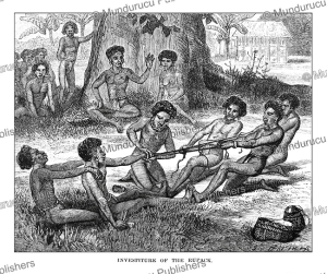 Investiture of the Rupack, a Palau ritual, Johann Baptist Zwecker, 1870 | Photos and Images | Travel