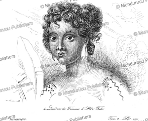 Loui¨, one of the wives of Abba Thulle, chief of Pelew (Palau), Louis Auguste de Sainson, 1839 | Photos and Images | Travel