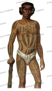 Man of the Caroline Islands with full body tattoo, Hermann Julius Meyers, 1893 | Photos and Images | Travel