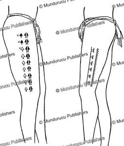 Chuuk female leg tattoo patterns, Augustin Kra¨mer, 1910 | Photos and Images | Travel