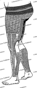 Pohnpei female leg tattoo pattern, H. Singer, 1899 | Photos and Images | Travel