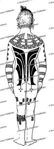 Sonsorol male back full body tattoo design, J.S. Kubary, 1889 | Photos and Images | Travel