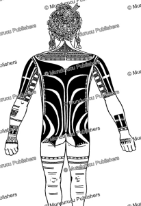 Ulithi male back tattoo pattern, Augustin Kra¨mer, 1910 | Photos and Images | Travel