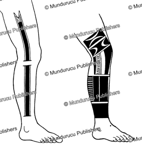 Yap male leg tattoo patterns, Wilhelm Mu¨ller, 1917 | Photos and Images | Travel