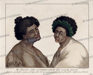 curiously tattooed man of tahiti, sydney parkinson, 1780