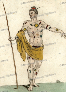 Beautifully tattooed man from Tahiti, Jacques Grasset de Saint-Sauveur, 1780 | Photos and Images | Travel