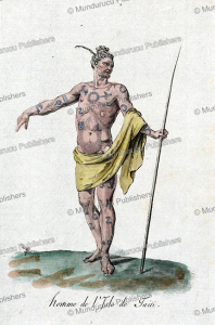 Beautifully tattooed man from Tahiti, Jacques Grasset de Saint-Sauveur, 1795 | Photos and Images | Travel