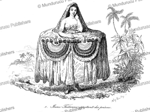Tahitian beauty bringing presents, Tahiti, Louis Auguste de Sainson, 1835 | Photos and Images | Travel