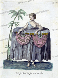 tahitian girl bringing presents to the king, jacques grasset de saint-sauveur, 1795