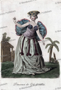 dancing woman of tahiti, jacques grasset de saint-sauveur, 1795