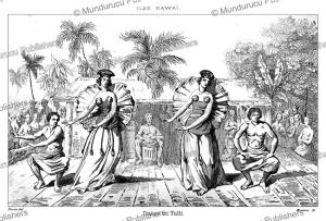 dancing women of tahiti, victor marie felix danvin, 1834