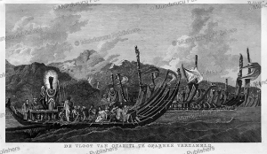 The fleet of Tahiti assembled at Oparee, William Hodges, 1777 | Photos and Images | Travel