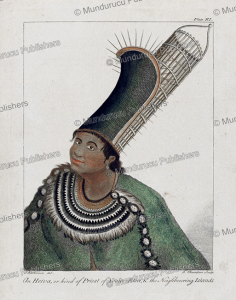 priest from one of the tahitian islands, sydney parkinson, 1780