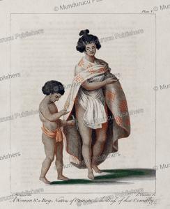 woman and boy of otaheite, tahiti, sydney parkinson, 1780
