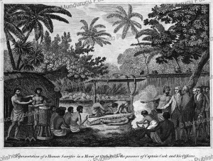 human sacrifice at tahiti in the presenece of captain cook and his officers, john webber, 1777