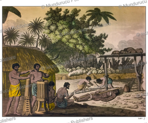 Human sacrifice in a morai at Otaheite in the presence of Captain Cook and his officers, F. Castelli, 1816 | Photos and Images | Travel