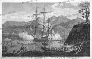 Captain Wallis attacked by Tahitians, Robert Be´nard, 1774 | Photos and Images | Travel