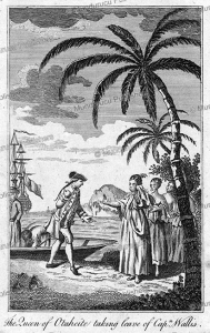 Queen of Tahiti taking leave of Captain Wallis, 1795 | Photos and Images | Travel