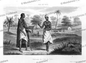 natives from tahiti, p. lesson, 1839