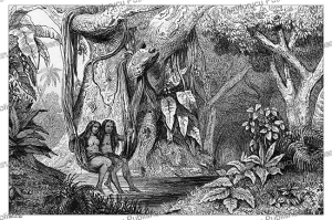 tahitian beauties bathing, victor marie felix danvin, 1836