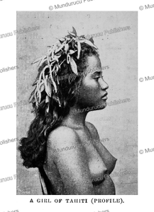 Tahitian girl, H.N. Hutchinson, 1900 | Photos and Images | Travel