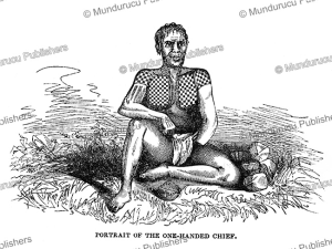 The beautifully tattooed One Handed chief of Raraka, Tuamotu Islands, Charles Wilkes, 1845 | Photos and Images | Travel