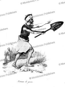 warrior of tonga island, louis auguste de sainson, 1833