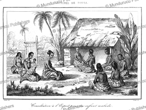 consultation of a sick child on tonga, victor marie felix danvin, 1834