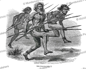 the war-dance of the niuans, tonga, 1870