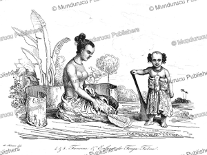 woman and child of tongatapu, louis auguste de sainson, 1834
