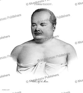 palou, chief of moua, tonga, louis auguste de sainson, 1835