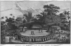 reception of james cook at tonga, after john webber, 1780