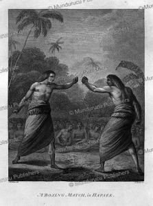boxing match in hapaee, tonga, john webber, 1784
