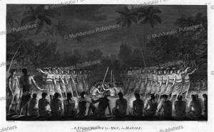 a night dance by men in hapaae, tonga, john webber, 1784