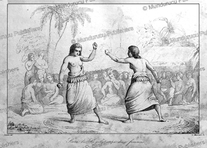 a boxing match between women on tonga, victor marie felix danvin, 1836