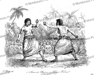 Boxing match between women on Tongatapu, Jules Boilly, 1839 | Photos and Images | Travel
