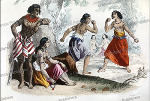 boxing women on tonga tabu, devilliers, 1844
