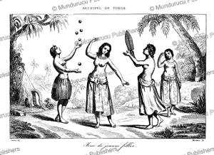 women of tonga playing a game, victor marie felix danvin, 1836
