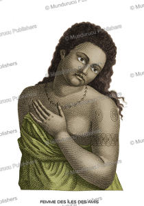 woman of tonga with traditional tattoos, after jean piron, 1790