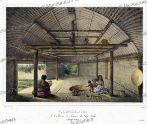 inside the house of the wives of chief palou, tonga, louis auguste de sainson, 1833