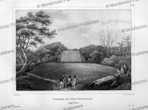 tomb of chief tongamana, tongatabu, louis auguste de sainson, 1835