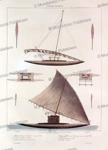 canoe from the tonga islands, e. paris, 1835